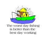 Worst Day Fishing T-shirts and Gifts