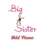 Personalized Big Sister Monkey Tees