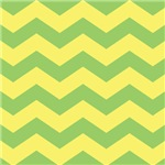 Yellow Chevron Home Accents