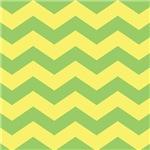 Yellow Chevron Home Accents