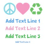 Personalized Peace Love Recycle Tees