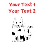 Personalized Black and White Cat
