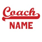 Personalized Red Coach Name Shirts