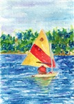 Laser Sailing Watercolor Artistic Home Decor