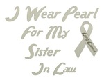 Sister In Law Lung Cancer Support Tee
