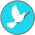 Peace Dove T-shirt : Ornament : Button