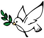 Dove of Peace ~ Flying dove of peace with an olive branch in it's beak makes a beautiful anti-war symbol that you can display or carry with you. Let it help you spread the message of peace.