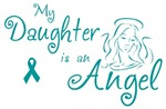 Ovarian Cancer Angel Daughter T-shirts