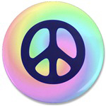Retro Peace Polo Shirts ~ Peace polo shirt and jacket collection decorated with an embroidered logo featuring a peace sign and a retro hippie rainbow background. Plus, a collection of cool retro peace buttons and magnets.