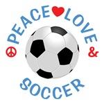 Peace Love Soccer Shirts