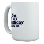 Large Mugs for January Birthdays