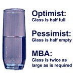 MBA Glass isn't Half Full or Empty T-Shirt & Gifts