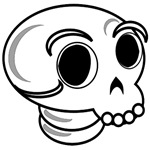 Funny Cute Halloween Skull T-Shirts & Gifts