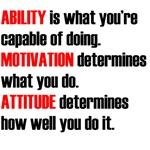 Ability. Motivation. Attitude