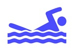 Blue Swimming Icon
