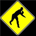 Baseball Pitcher Crossing