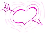Pink Heart With Arrow