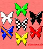 Seven Racing Flags Butterflies