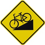 Biking Road Sign