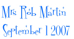 Mrs Rob Martin  