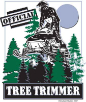 Tree Trimmer Snowmobile