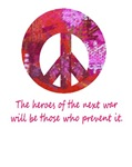 Make Peace ~ Groovy Graffiti style Peace loving t-shirts and gifts with an anti war quote from an unknown author.