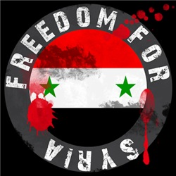Freedom for Syria buttons and T shirts