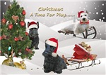 Scottish Terrier Pawprints in the Snow Cards