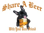French Bulldog Shares Beer