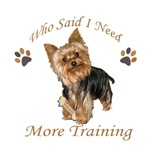 Yorkie Needs More Training