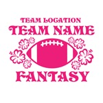 Hot Pink Ladie's Fantasy Personalized Fantasy Foot