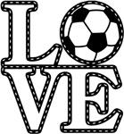 Love Soccer Black