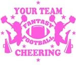 Pink Fantasy Football Cheering Personal