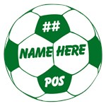 Soccer Ball Personalized Green