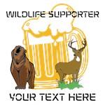 Bear Deer Beer Wildlife Personalized