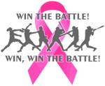 Win the Battle Pink Cancer Ribbon
