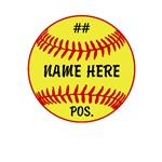 Name, Number and Postion Personalized Sofball