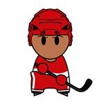 Super hockey player Yoshii