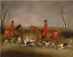 Hunters on Horses with Their Dogs