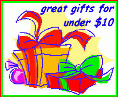 Gifts for under $10.00