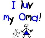 I luv my Oma (blue)