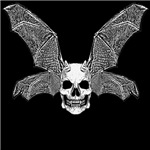 DEVIL BAT SKULL wht.