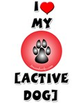 I Heart My Active Dog