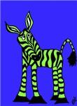 Zoe the Green Zebra