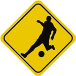 Soccer Crossing Sign
