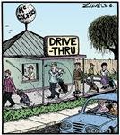 Mc Golfers drive-thru