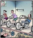 Gym exercise Bikie