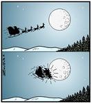 Santa hits moon