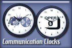 Communications Occupations Wall Clocks