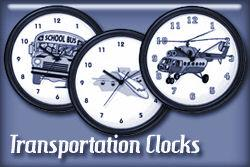 Transportation Occupation Wall Clocks
